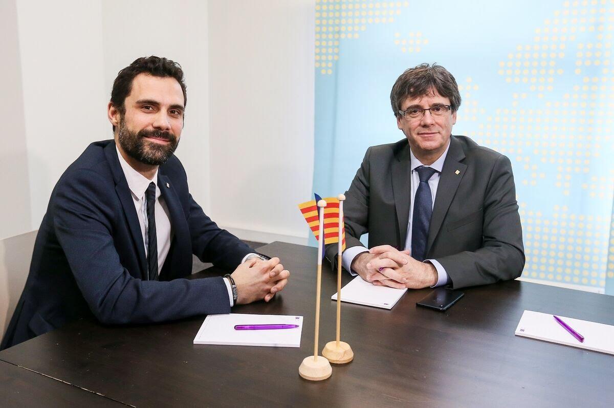 TELECINCO EXCLUSIVA [Corrupción en Girona por parte de Roger Torrent y Carles Puigdemont] Puigdemont-torrent